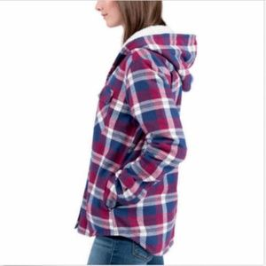 BOSTON TRADERS Jackets & Coats - Boston Traders Ladies' Sherpa Lined Hooded Flannel
